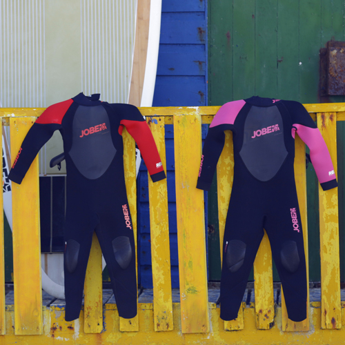 Jobe Progress Rebel 3/2.5 rood kinder wetsuit lang