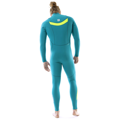 Jobe portland 3/2 chest zip teal blauw heren fullsuit wetsuit