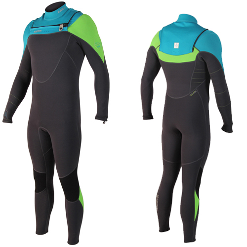 Jobe perth 3/2 chest zip teal blauw heren fullsuit wetsuit