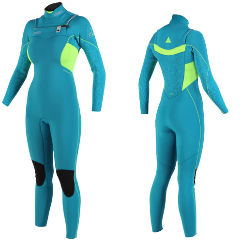 Jobe victoria 3/2 chest zip teal blauw dames fullsuit