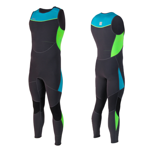 toronto long john 2mm wetsuit heren blauw