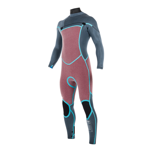 mystic legend fullsuit 5/3 mm borstrits heren wetsuit zwart / lime