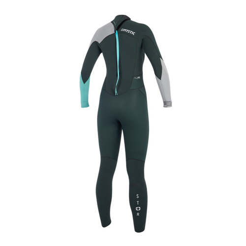 mystic star fullsuit 5/4 mm rugrits dames wetsuit teal