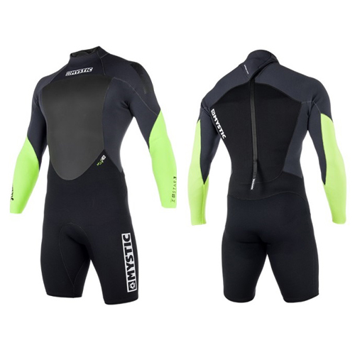 mystic star lange arm shorty 3/2mm rugrits heren wetsuit lime