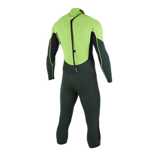 mystic brand langearm shortleg 3/2 mm rugrits flatlock heren wetsuit teal