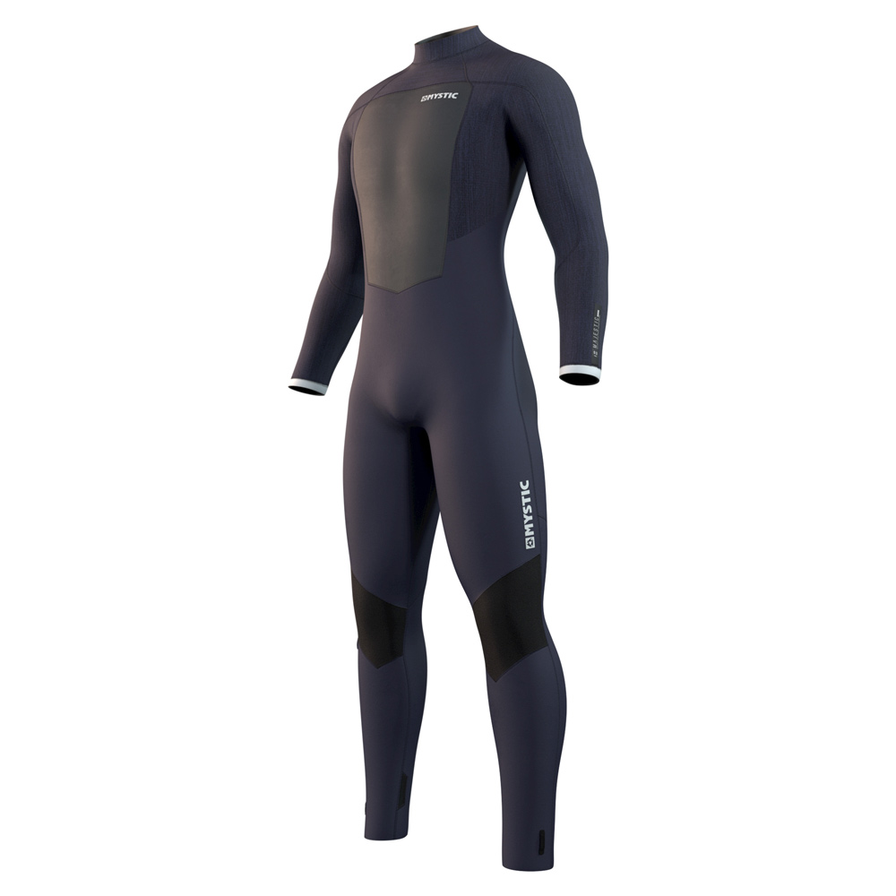 Majestic Fullsuit 5/3mm rugrits Night blauw heren wetsuit