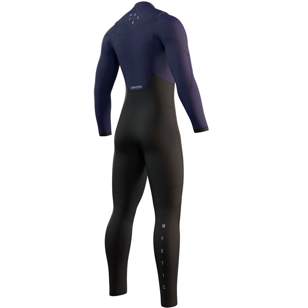 mystic Star Fullsuit 5/3mm dubbele borstrits Night blauw heren wetsuit