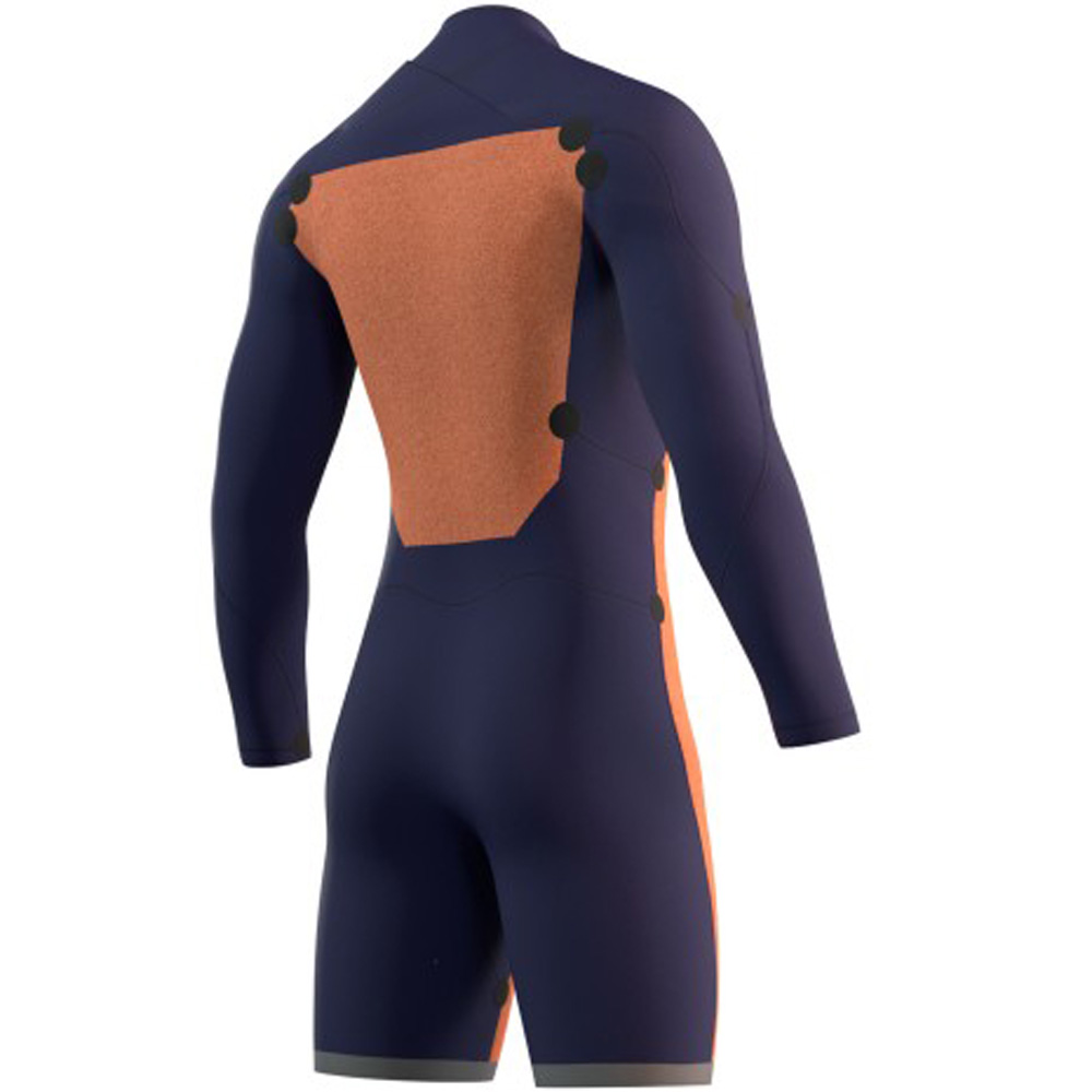 mystic Star lange mouwen Shorty 3/2mm dubbele borstrits Zwart heren wetsuit
