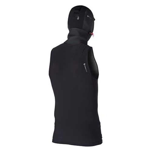 mystic bipoly hooded tanktop 3mm zwart