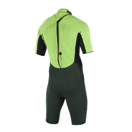 mystic brand shorty 3/2 mm rugrits flatlock heren wetsuit teal