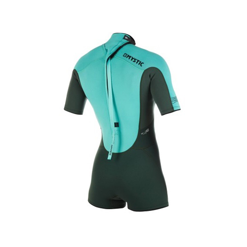 mystic brand shorty 3/2 mm rugrits flatlock dames wetsuit teal
