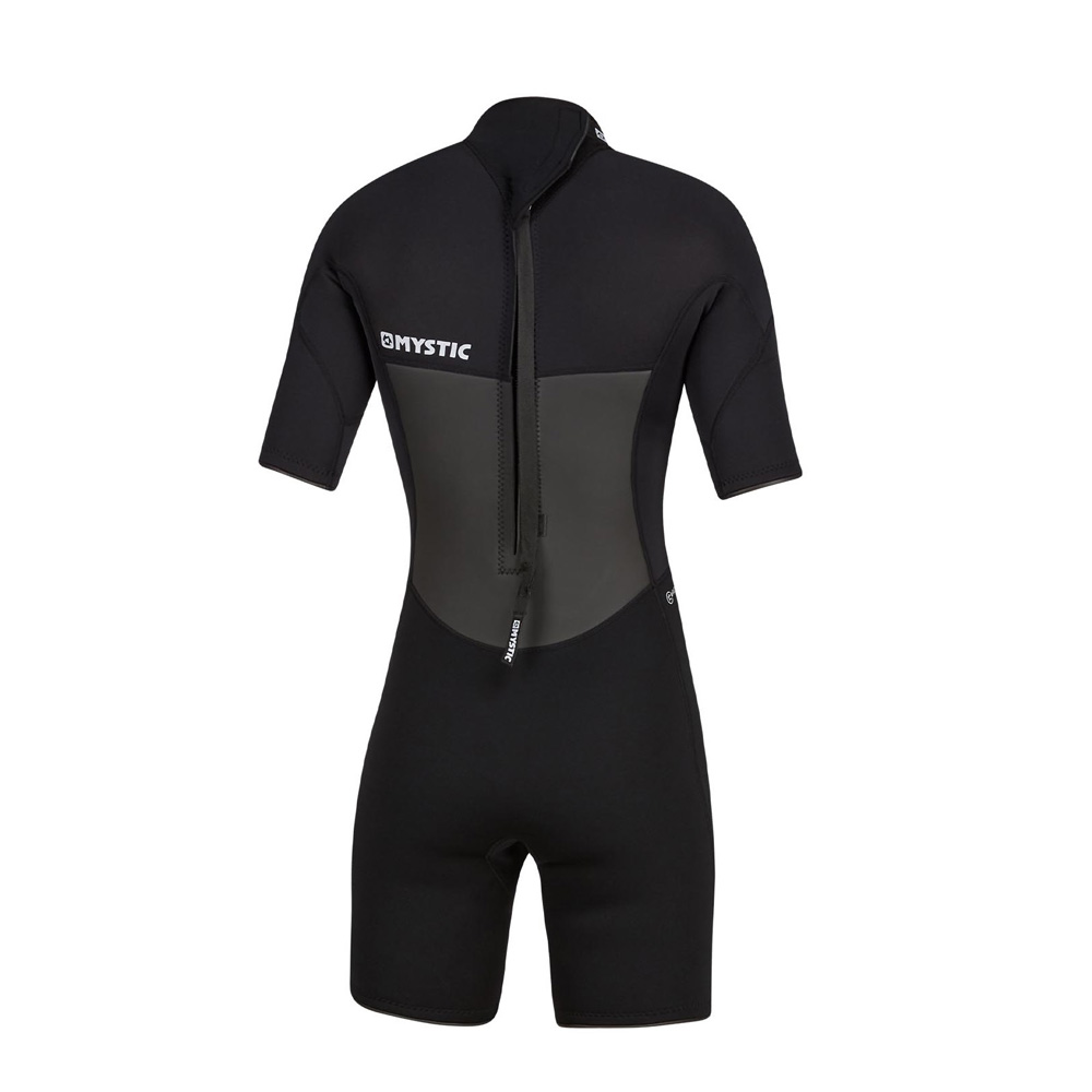 mystic Brand Shorty 3/2mm rugrits Flatlock dames wetsuit zwart