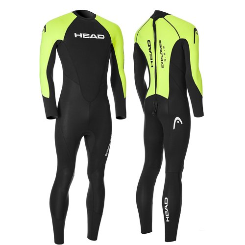 HEAD explorer 3/2/2 wetsuit heren zwart lime
