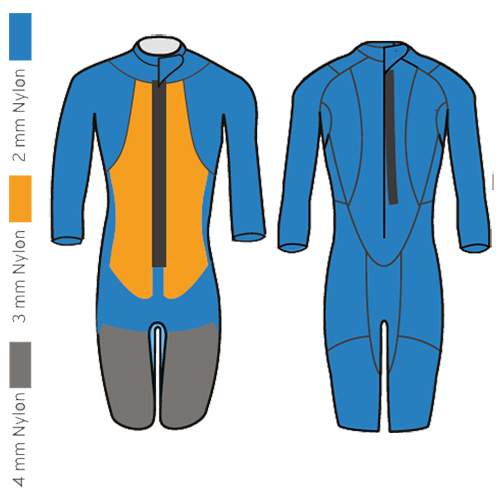 HEAD swimrun rough shorty heren wetsuit zwart rood