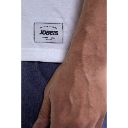 Jobe casual logo t-shirt heren white